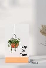 Atelier Mijn Wonderland Wenskaart 'Hang in there'