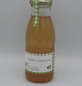 De vliertuin Gember-citroensiroop