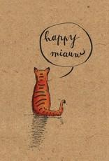 Ellement Wenskaart Happy Miauw