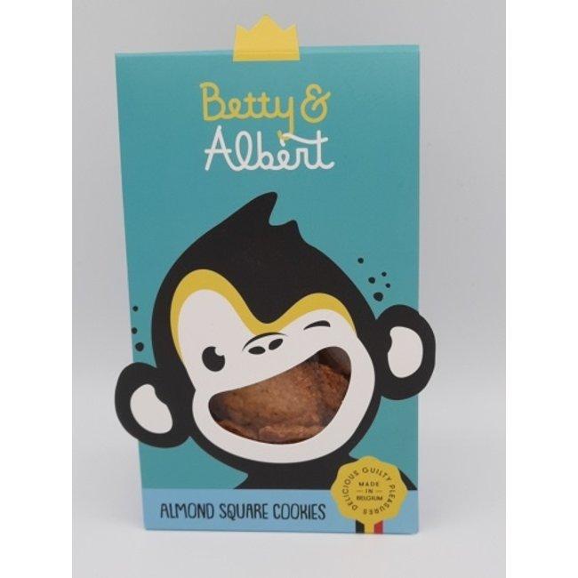 Betty & Albert Almond square cookies