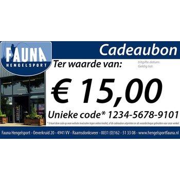 Fauna Hengelsport Cadeaubon €15