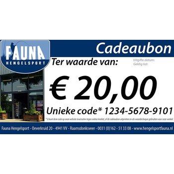 Fauna Hengelsport Cadeaubon €20