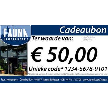 Fauna Hengelsport Cadeaubon €50