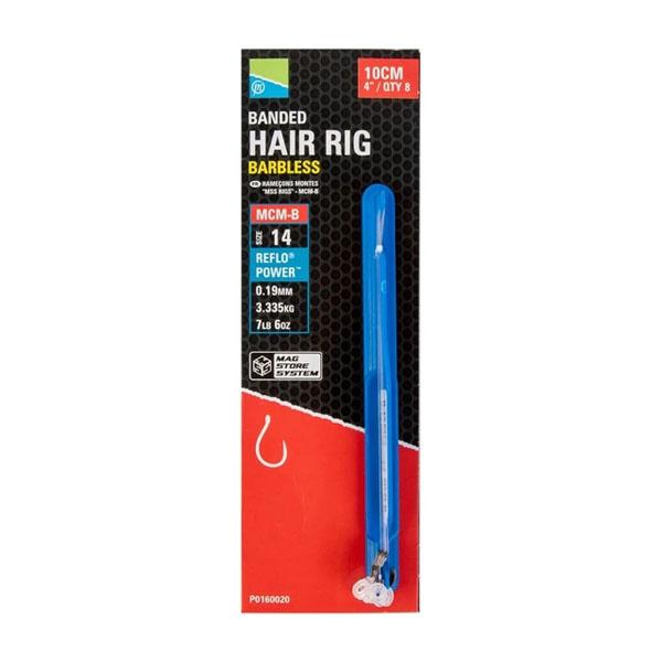 Preston Innovations MCM-B Banded Hair Rigs - Barbless
