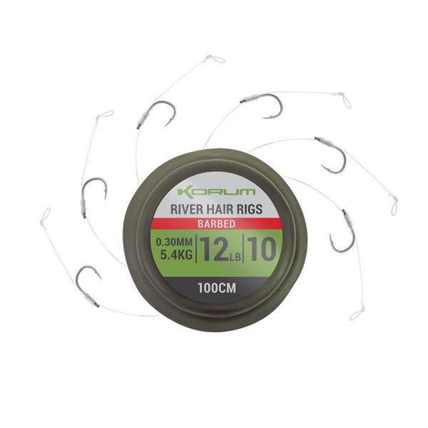 Korum River Hair Rigs - Barbed