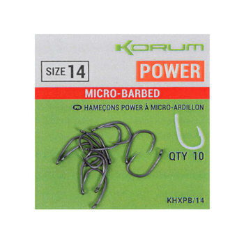 Korum Power Hooks - Barbed