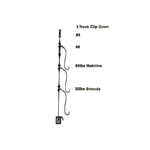 Cox & Rawle 3 Hook Clipdown Rig