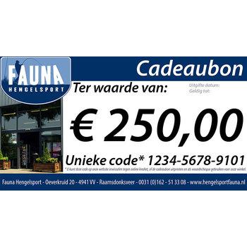 Fauna Hengelsport Cadeaubon € 250