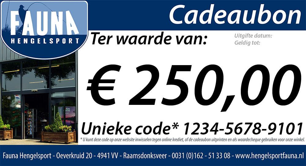 Fauna Hengelsport Cadeaubon €250
