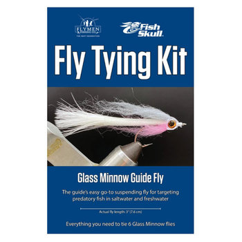 Flymen Fly Tying Kit - Fish-Skull Glass Minnow Guide Fly