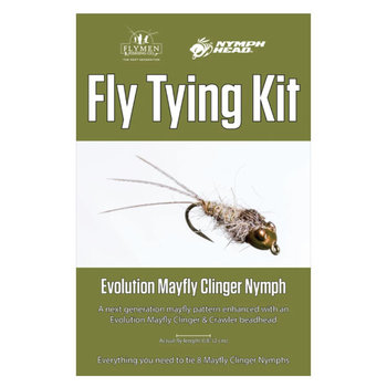 Flymen Fly Tying Kit - Nymph-Head Evolution Mayfly Clinger Nymph