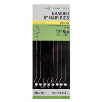 Korum Big Fish Braided Hair Rigs - Barbless