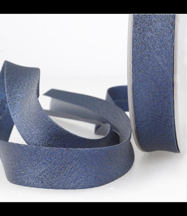 Biais - lurex blauw