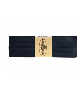 Biais rekbaar - donker blauw 009