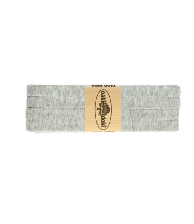 Biais rekbaar - licht grijs melee 065