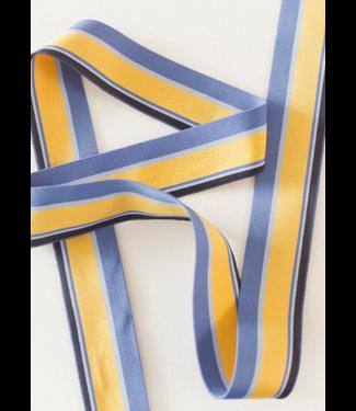 Elastiek streep - geel/blauw