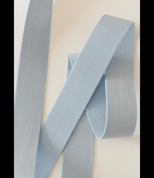 Elastiek 40 mm - lurex lichtblauw
