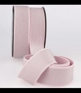 Elastiek 40 mm - lurex zacht roze