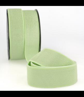 Elastiek 40 mm - lurex zacht groen