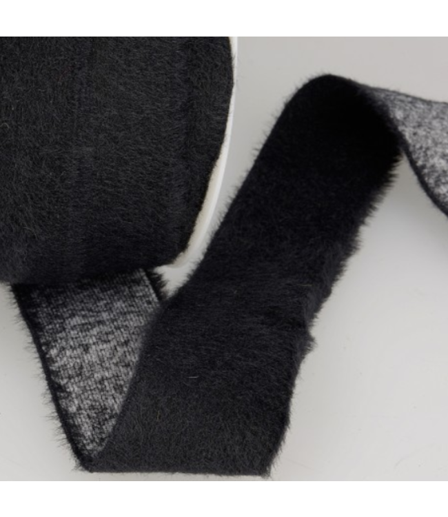Elastiek 45 mm - fluffy zwart