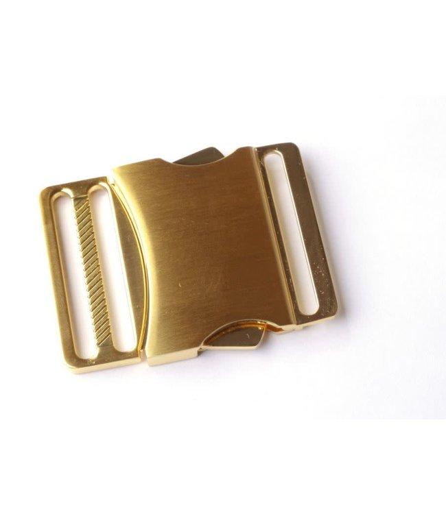 Klikgesp 40 mm - goud