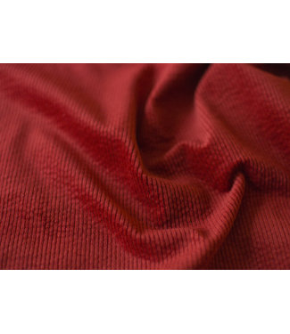 Corduroy stretch - rumba red