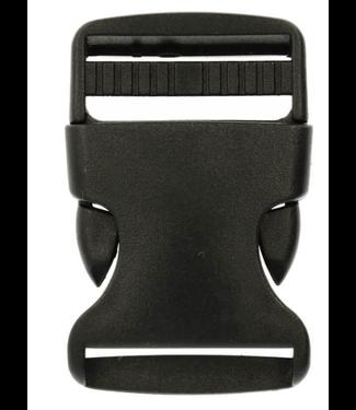 Klikgesp nylon zwart 30 mm