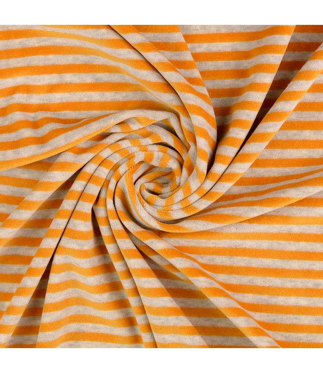 Nicky velours strepen - geel