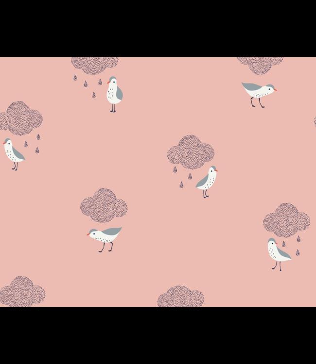 Birds in the rain - poplin