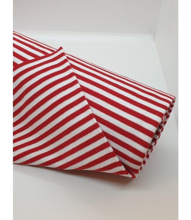 Boordstof strepen - rood