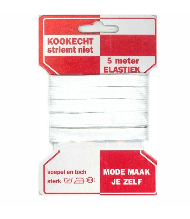 Stevig elastiek 10mm 5M - wit