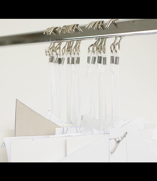 Sewing pattern hooks