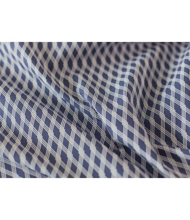 Ruitjes - donker blauw