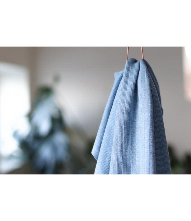 Viscose trim knit - faded blue