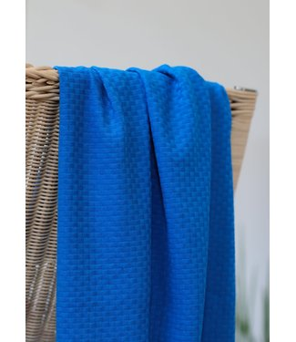 Mind The Maker Organic wicker knit - intense blue