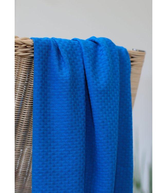 Organic wicker knit - intense blue