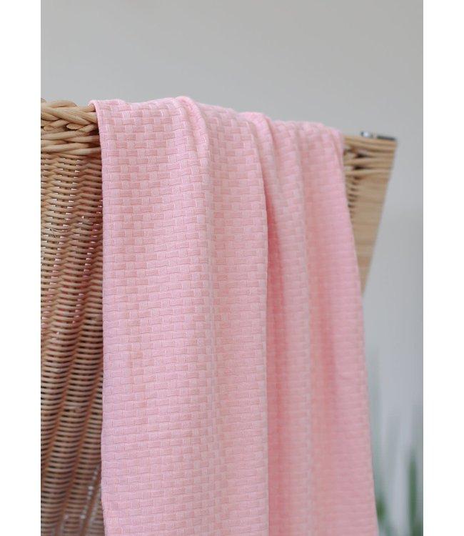 Organic wicker knit - sweet peach