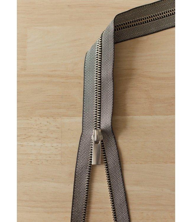 Metaalrits visgraat - zilver 60 cm deelbaar