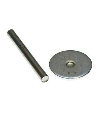Gereedschap holniet dubbele kop - 9 mm