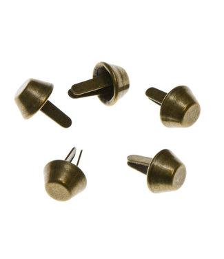 Tasvoetjes brons - 10 mm (4)