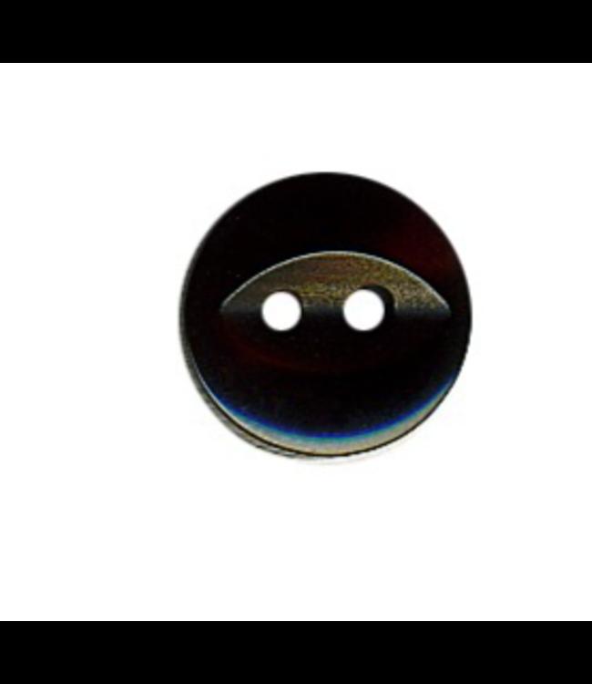 Hemdsknoop 11 mm - zwart