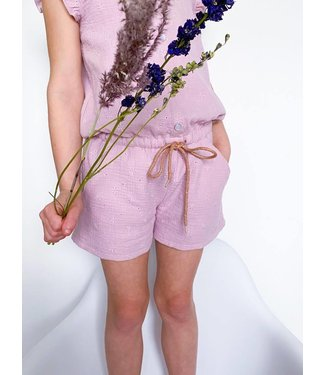Broderie - zacht lila