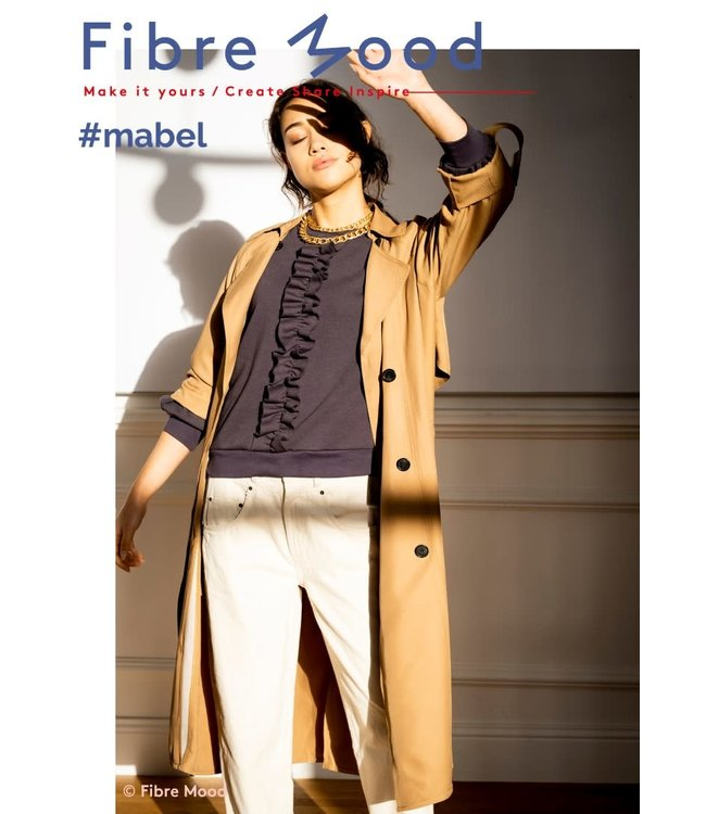 Mabel boordstof - antraciet