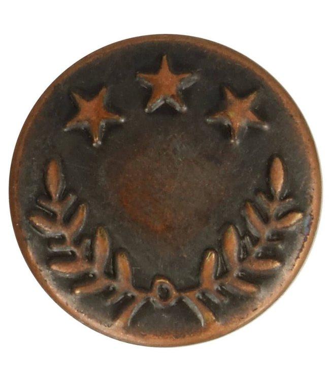 Jeansknoop 17 mm - rood brons