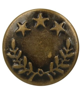 Jeansknoop 17 mm - geel brons