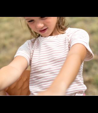 Katia Fabrics Slub jersey - stripes hazelnut