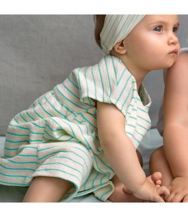Katia Fabrics Slub jersey - stripes aqua