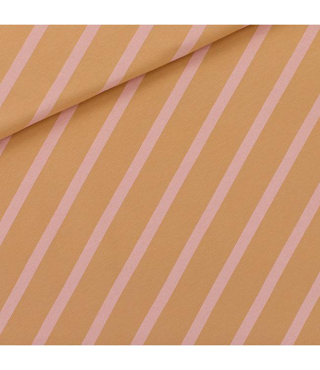 SYAS16 Diagonals fenegriek bruin - french terry