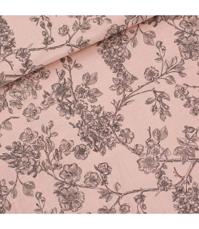 SYAS16 Cherry blossom bleekroze - double gauze