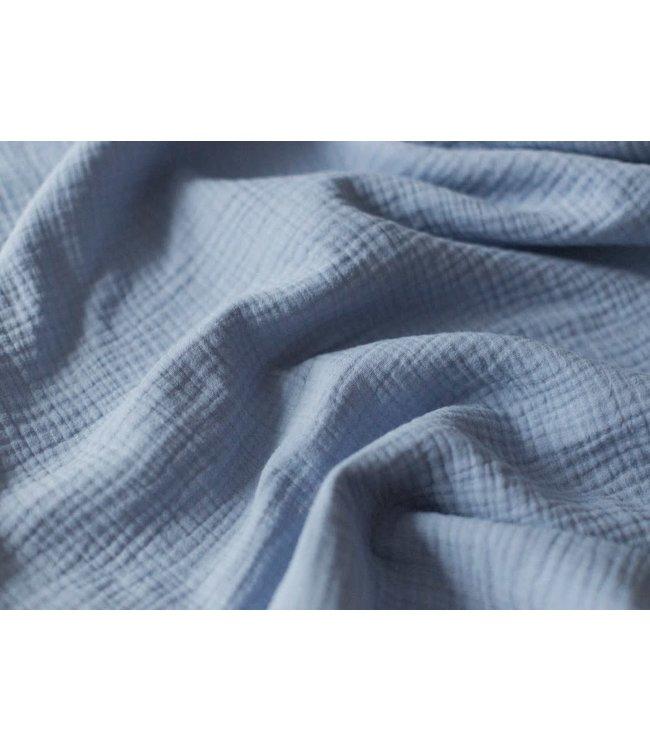 Double gauze - dusty blue